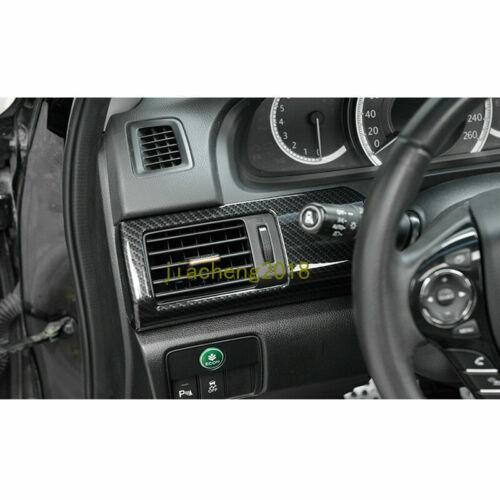Carbon Fiber Style Automobile Door Decoration Strip For Honda Accord 2014-2017