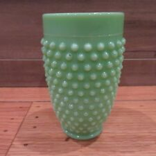 Jadeite Green Hobnail Tumbler Vase Martha By Mail Le Smith Milk Glass Great Gift