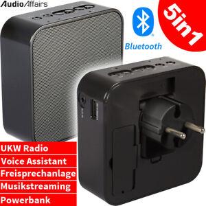AudioAffairs 5in1 Bluetooth Lautsprecher Mobiles Steckdosenradio Akku Radio NEU