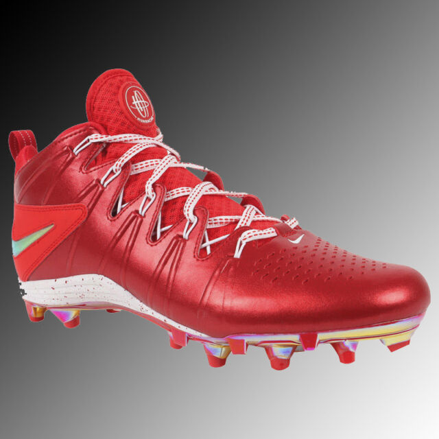 27ee8617f1a Nike Huarache 4 Lax Le Mens Lacrosse Cleats LX Football - Red 12 for ...