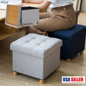 15 Quot Storage Ottoman Folding Toy Box Chest Seat Ottomans