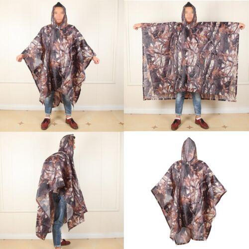 1x Ahornblatt Camouflage Regen Poncho mit Tasche Große Notunterkunft Grundtüll