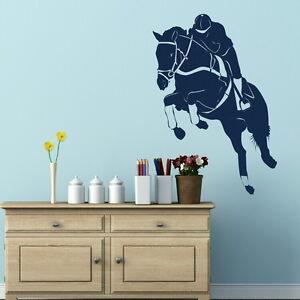 Jumping-Horse-Wall-Sticker-Removable-Vinyl-Horse-Wall-Transfers-HO14