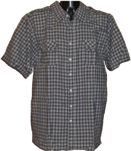 **NEW** Mens Big Size Brooklyn Cotton Charcoal Check Shirt 2XL 3XL 4XL 5XL