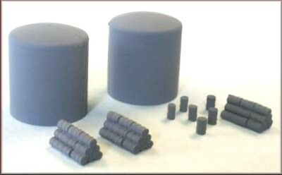 Knightwing Fuel/Oil Gas tanks with Drums + Drum stacks PN17 N Gauge