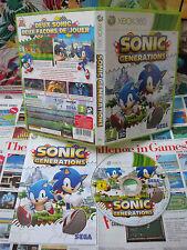 Xbox 360:Sonic Generations [TOP SEGA & 1ERE EDITION] COMPLET - Fr