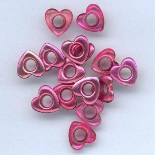 15 EYELETS 10mm coeur en différentes couleurs N choix