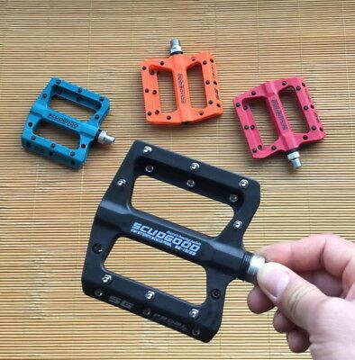 SCUDGOOD Nylon Glass fiber Pedals Road FR MTB XC Bike Bearing Flat Pedal Blue