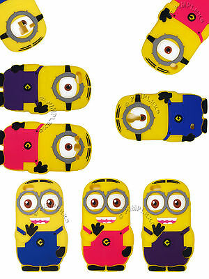 Despicable Me 2 Minion Case 3D One / Two Eye Cover Soft Silicone Protective Skin