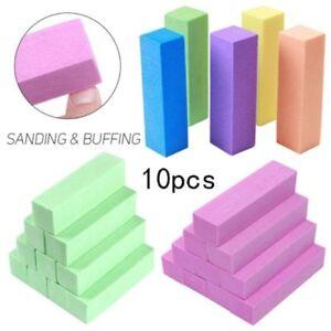 10-x-Nail-Art-Buffer-Buffing-Sanding-File-Block-For-Manicure-Pedicure-New