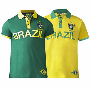 90b4dc13c3f Mens Brazil Football Polo T Shirt D555 Duke Big King Size Silva ...