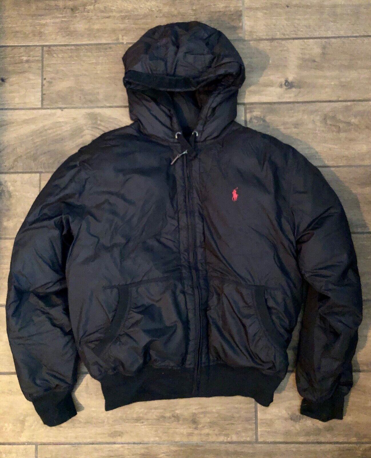 Polo  Ralph Lauren Acolchado Negro Chaqueta De Plumón Acolchado Invierno Abrigo Mujer L  Seleccione de las marcas más nuevas como