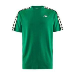 Nouveau-Homme-KAPPA-Banda-Coen-T-shirt-avec-logo-au-Green-Med-38-40-034-Poitrine