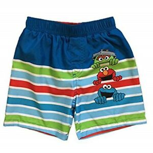 9a9a5bf25a Sesame Street Oscar Cookie Elmo Boys 24 Mo. Swim Trunks w/ UPF 50 | eBay