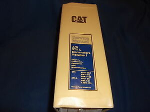 Details about CAT CATERPILLAR 375 375L EXCAVATOR SERVICE SHOP REPAIR BOOK  MANUAL ENGINE MAINT