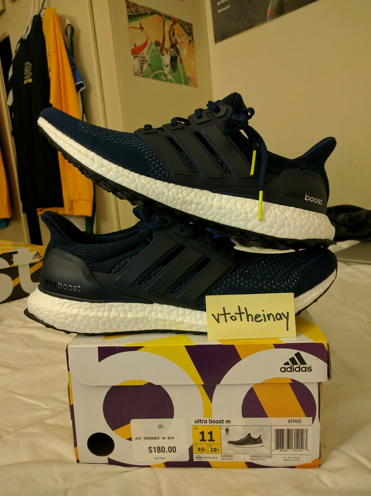 Adidas Ultra Boost Navy 1.0 S77415 DS sz 11 12 sns hypebeast