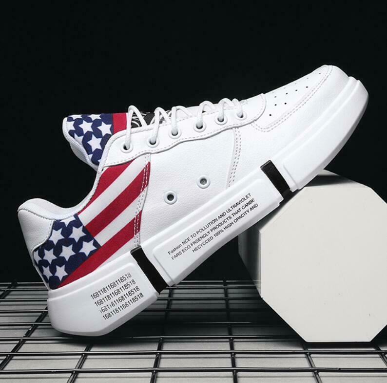 Mens Stars Striped Lace Up High Tops Athletic Sports shoes Running Trainers Hot