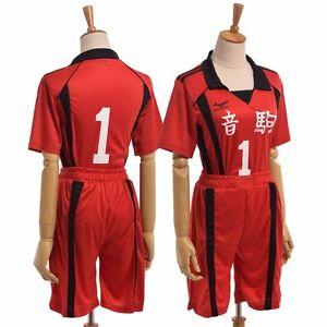 prettycos Unisex Anime School Uniform Kuroo Tetsurou Costume Nekoma Valleyball Cosplay Fancy Dress Top Shorts