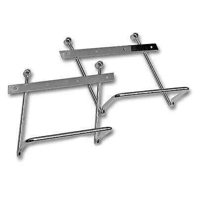 Yamaha XV250 XV 250 Virago Chrome Saddlebag pannier support brackets bars kit