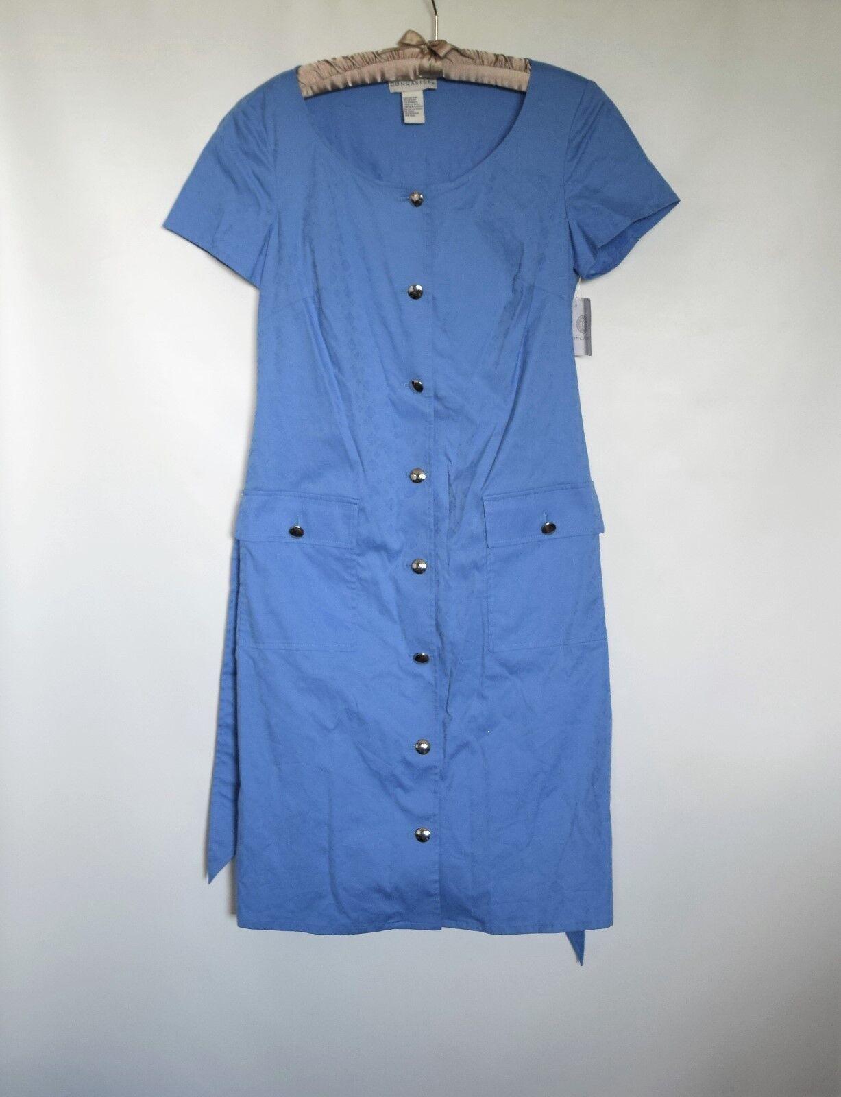 e00eba54b1c8c NWT DONCASTER bluee Women Down Cap Sleeve Summer Cotton Dress Size ...