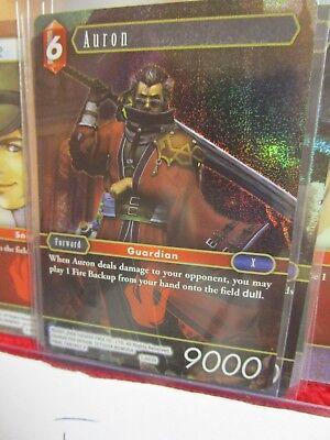 Final Fantasy TCG Opus I Foil Auron FFX FF10 Hero FF Square Enix Roleplaying Min