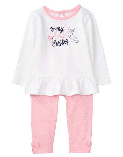 NWT Gymboree BABY BUNNY SZ 6-12 12-18 18-24 M Rabbit My First Easter Outfit 2PCS