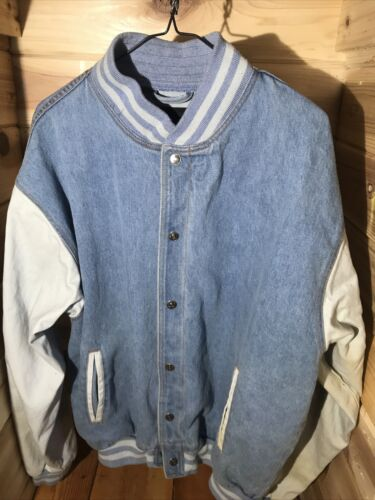 Vintage Boeing Tri Mountain Varsity Jacket Denim T