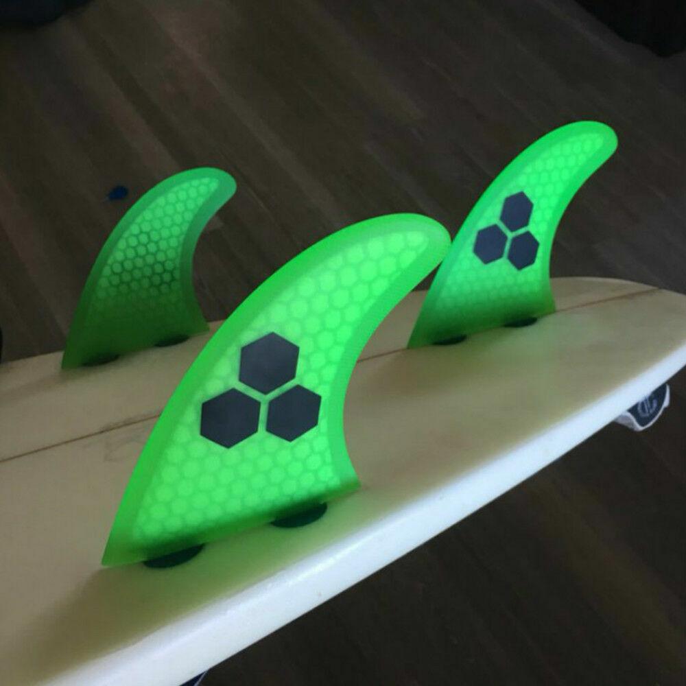 UPSURF Surfing 3fins S Size FCS G3 Base Tri fins Surfboard Thrusters Fiberglass Honeycomb