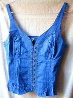 Anthropologie Odille Top Blouse Sz. 6 Blue