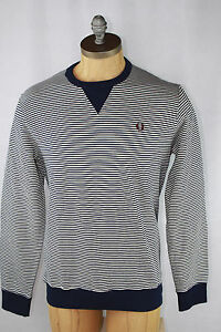 AUTH Fred Perry Men's Stripe Crewneck Sweatshirt | eBay