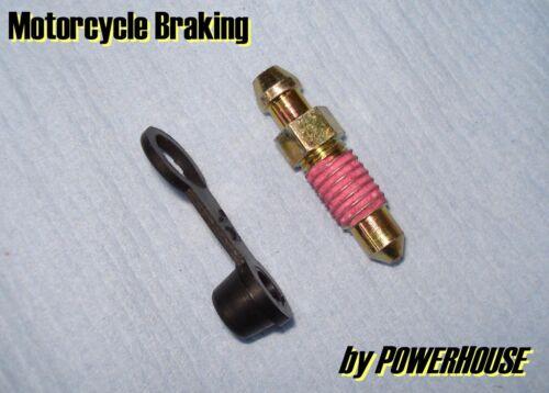 Brake caliper M8x1.25mm easy-bleed screw nipple Suzuki Yamaha Honda Nissin
