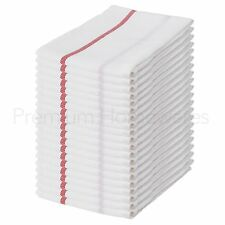 20 x IKEA TEKLA 100% Cotton Tea Towels 50x65cm (White/Red Stripe)