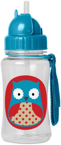 Skip Hop Zoo Paille Bouteille-Owl Kids paille Pop-Up Gourde BN
