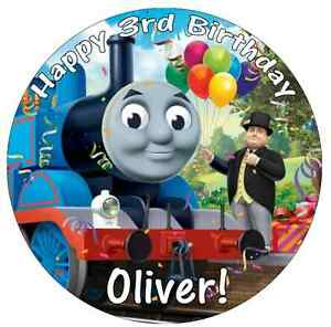 Thomas The Tank Engine Cake Topper Personalised Edible ...