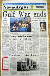 Details about <1991 GOLDSBORO NC newspaper 1ST GULF WAR ENDS Kuwait  Liberated DESERT STORM