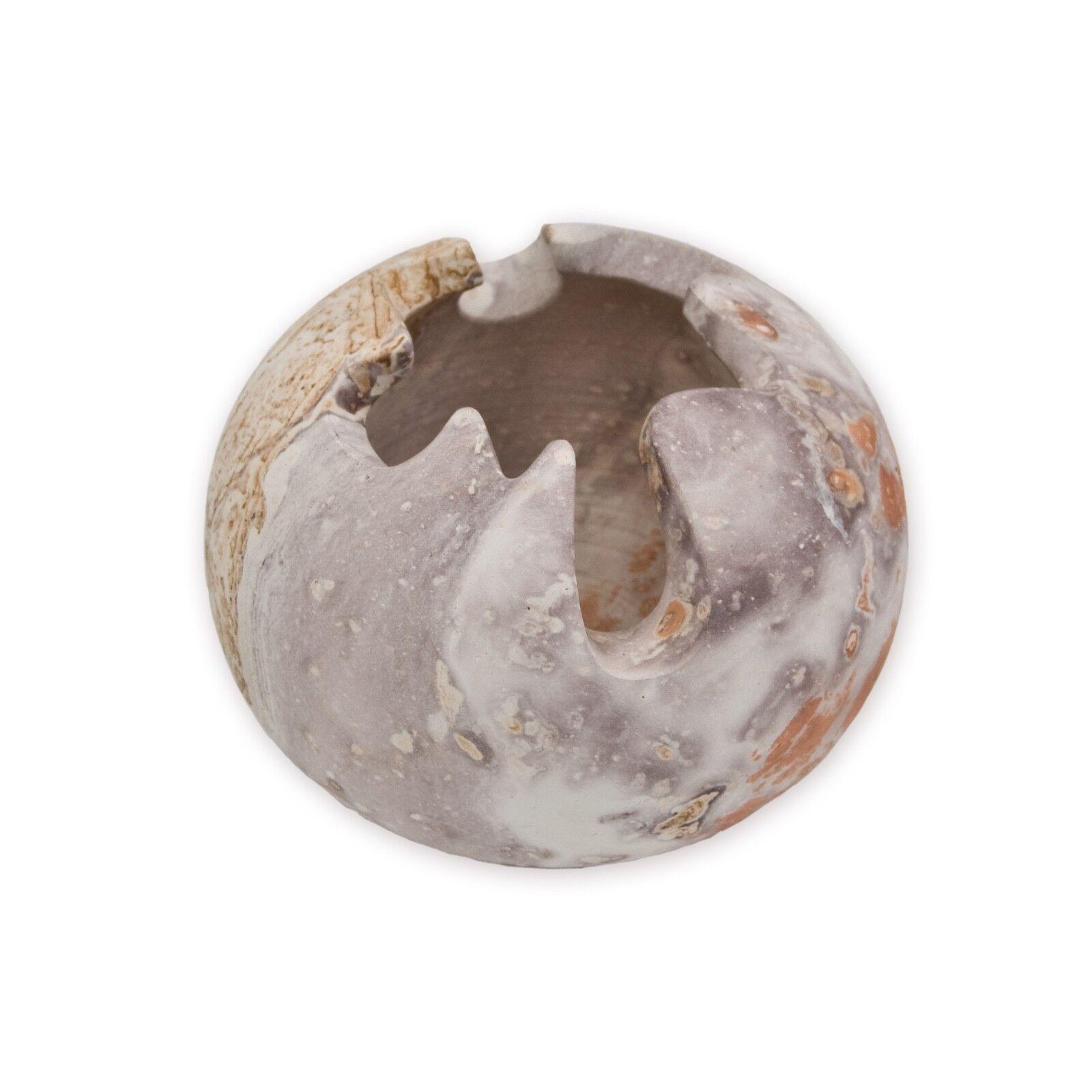 Vase Sandstein Blumenvase Mehrfarbig Sand Stein Bunt Handarbeit Deko Dekoration