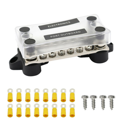 Dual Row Bus Bar Electrical Terminal Junction Box 12V 150A 4 Studs X8V5