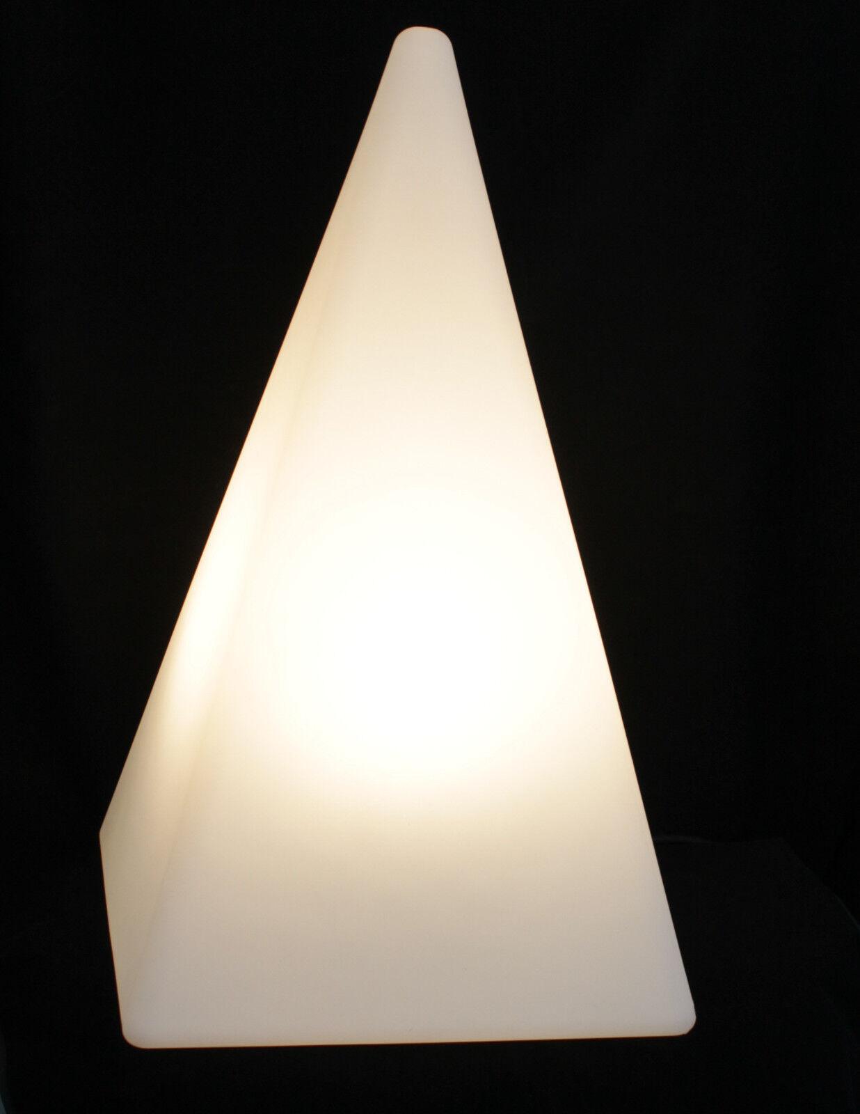Figur Pyramide 630mm weiß inkl. 5m Kabel Leuchte Garten LED wahlweise TG7231-60