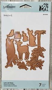 Spellbinders-Let-039-s-All-Party-7-Template-Dies-S4-1002-Animal-Tree-Birthday-Card