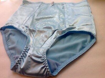 """Women Panties,Briefs,Control Panties /""""Ann Diane/"""" Size XL White Satin W//2 Pockets"""