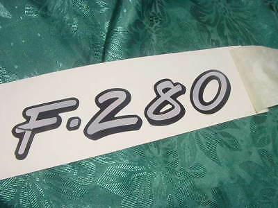 "FORMULA BOAT DECAL /"" F-280 /"" GENUINE NEW 7/"" long x 1.5/"" high MIRROR LIKE SHINEY"