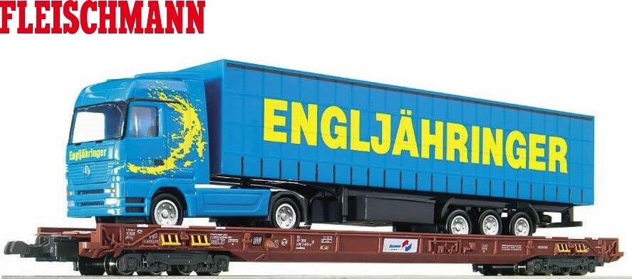 Fleischmann n 827402 baja pasillo el carro con ÖBB  engljähringer camiones  - nuevo + embalaje original