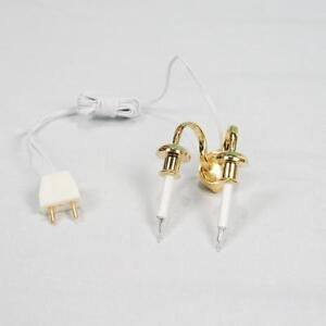 Double Candle Wall Lamp 12 Volt Doll House Miniature Lighting 1.12 Scale