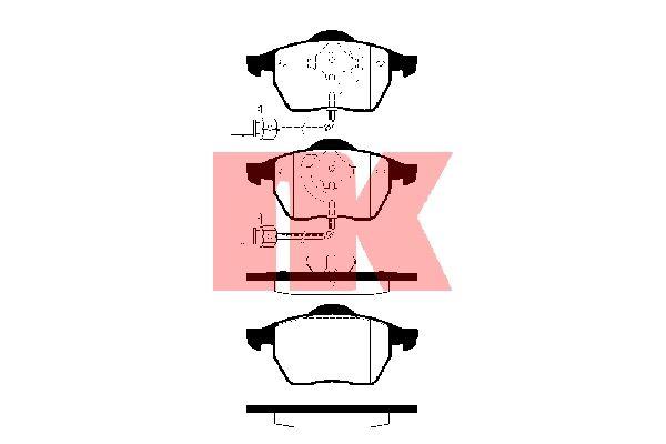 Bremsbelagsatz Scheibenbremse - NK 224742