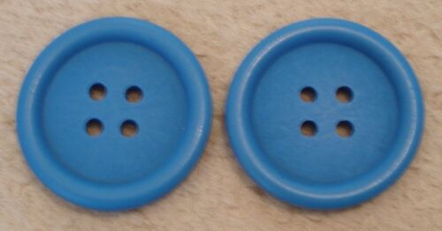 """VARIETY OF COLOURS 2 x 40mm ROUND WOODEN BUTTONS 4 HOLE SIZE 1 1//2/"""" 40mm"""