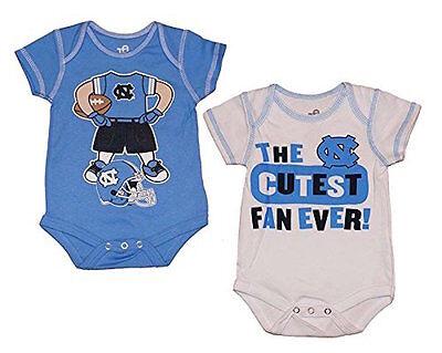 North Carolina Tar Heels NCAA Newborn//Infant 2-Pack Bodysuits Creeper Set