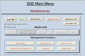 cd cmms equipment work order inventory microsoft access windows