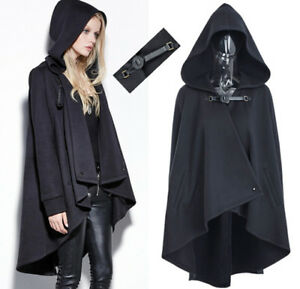 EN-STOCK-Cape-manteau-sweat-capuche-gothique-punk-lolita-retro-sangle-PunkRave