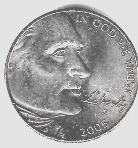 BU Coin #5508 Ocean In View 2005 D Jefferson Nickel
