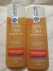 2 Neutrogena Body Clear Body Scrub Salicylic Acid Acne Treatment